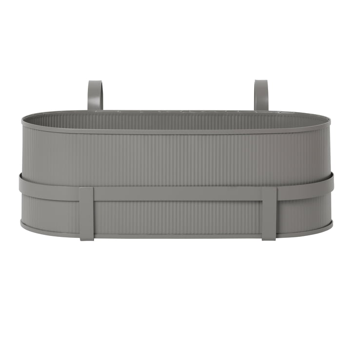 Bau Balcony Box von ferm Living in warm grey