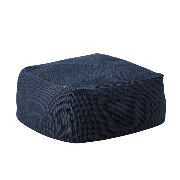 Divine Hocker 55 x 55 cm von Cane-line in midnight blue
