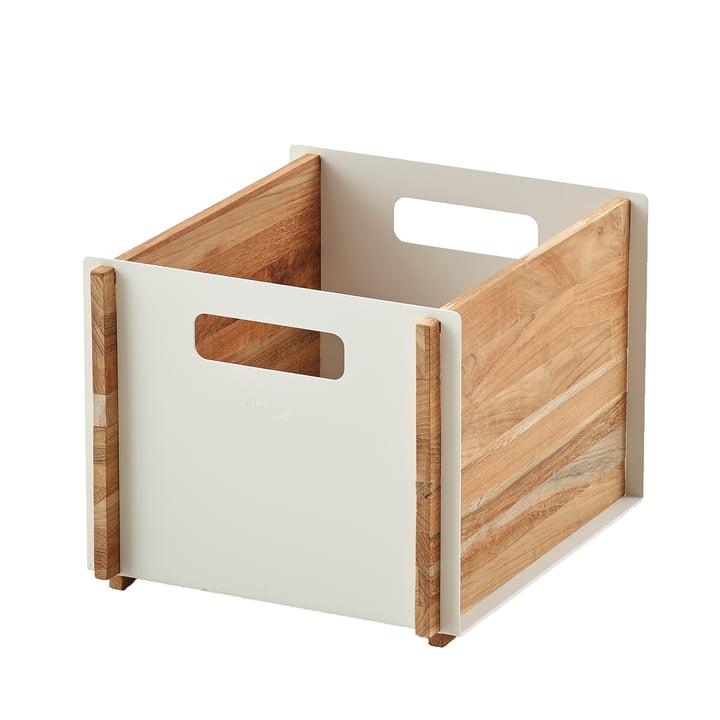 Box Aufbewahrungskasten von Cane-line in Teak / weiß