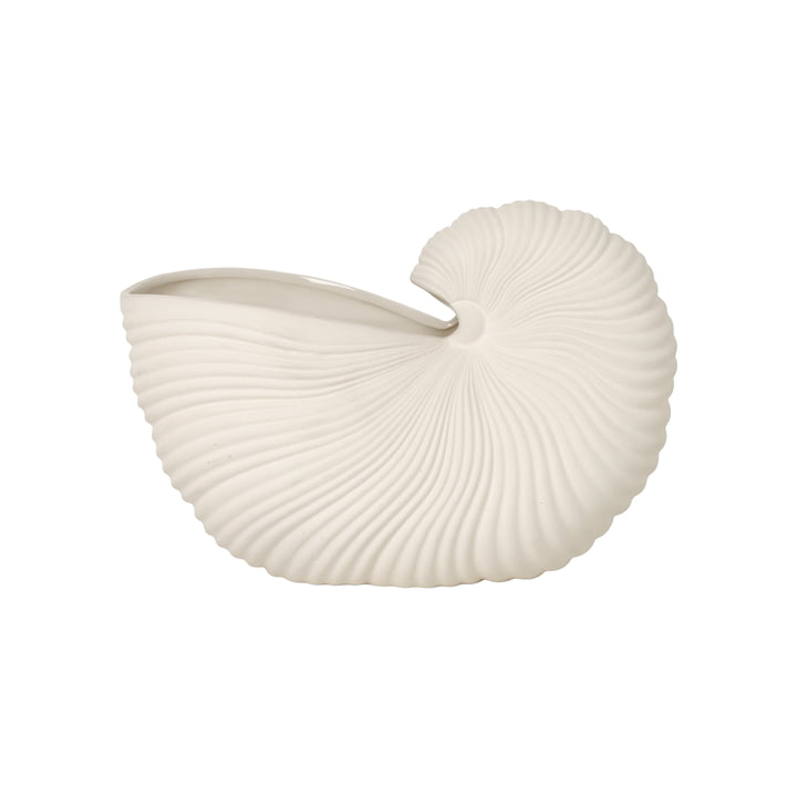 Shell Pot von ferm Living in off-white