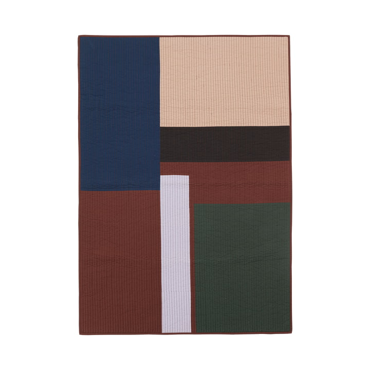 Shay Patchwork Steppdecke von ferm Living in zimt