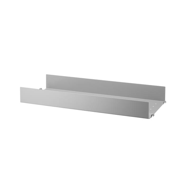Metallboden mit hoher Kante 58 x 20 cm von String in grau