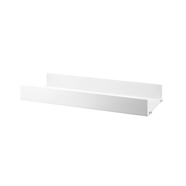 Metallboden mit hoher Kante 58 x 20 cm von String in weiß