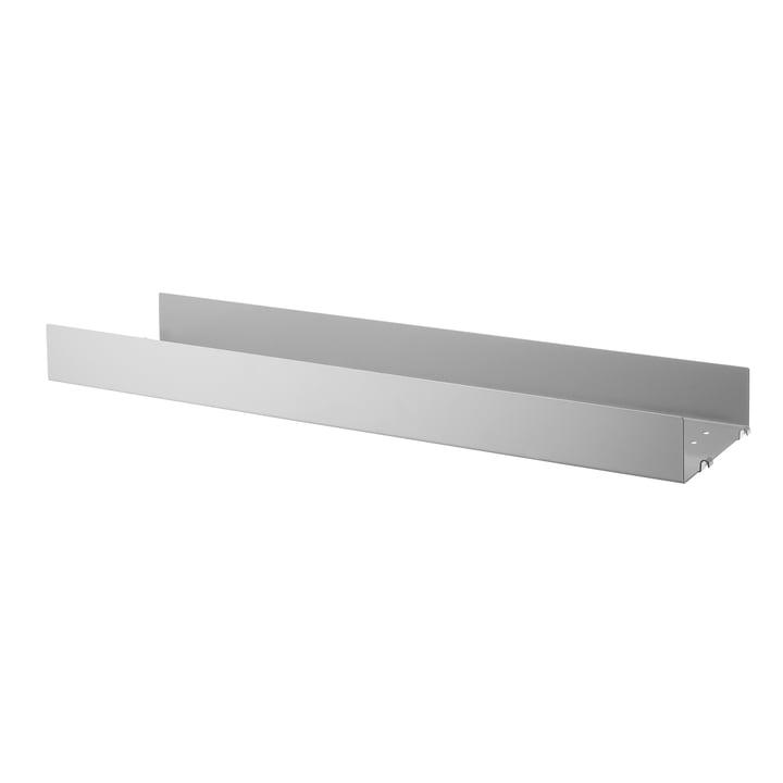 Metallboden mit hoher Kante 78 x 20 cm von String in grau