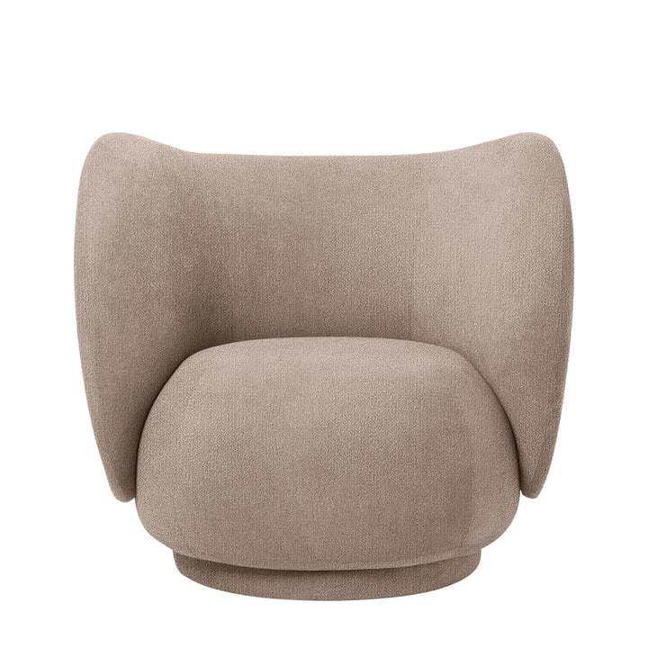 Rico Lounge Chair, Bouclé sand von ferm Living