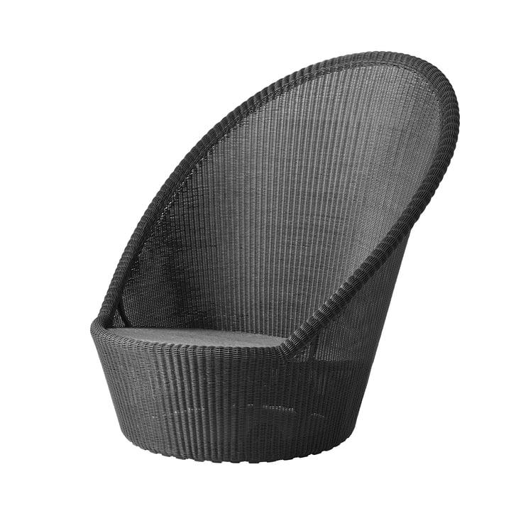 Kingston Sunchair mit Rädern (5448) von Cane-line in graphit