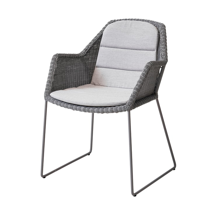 Sitzauflage für Breeze Sessel (5467) von Cane-line in hellgrau