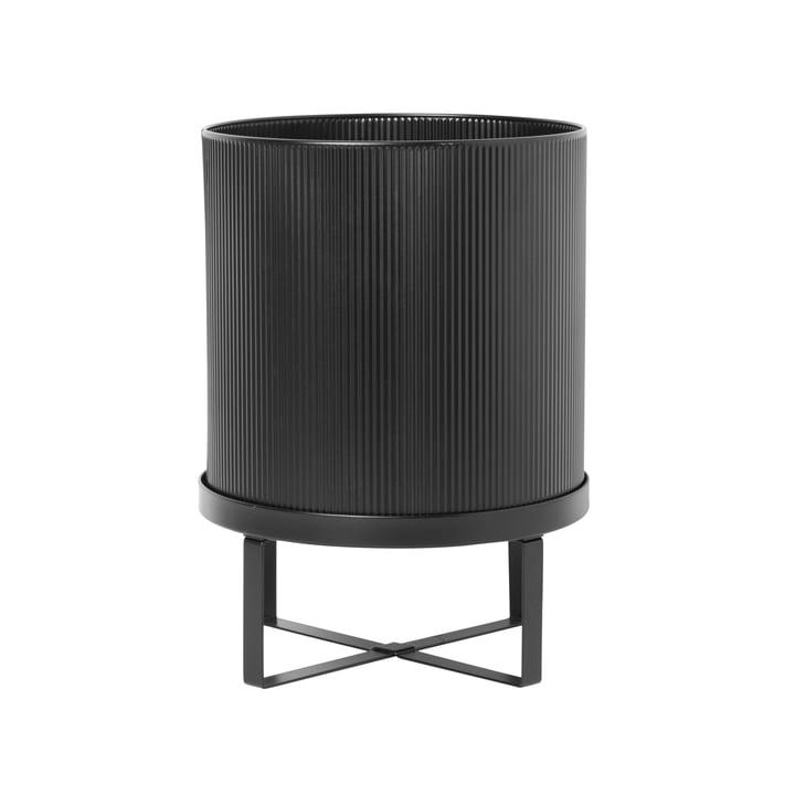 Bau Pflanztopf, Ø 28 x H 38 cm, schwarz von ferm Living