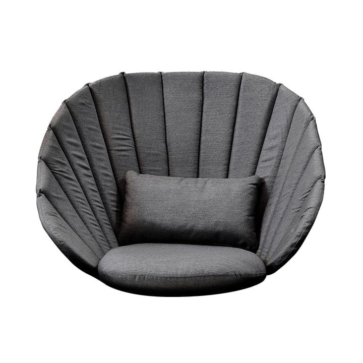 Kissen-Set (3 tlg.) für Peacock Lounge Sessel von Cane-line in grau