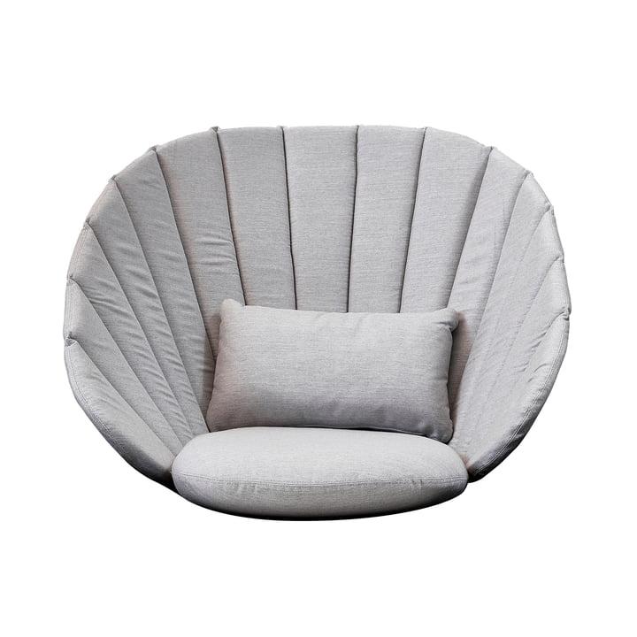 Kissen-Set (3 tlg.) für Peacock Lounge Sessel von Cane-line in hellgrau