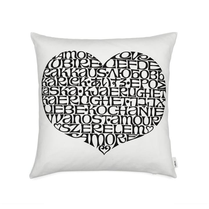 Graphic Print Pillow 40 x 40 cm International Love Heart von Vitra in schwarz / weiß