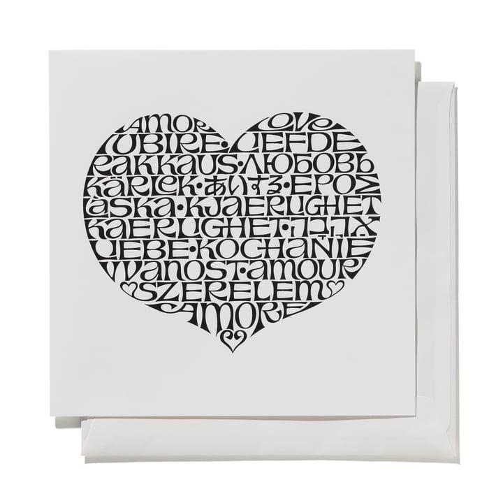 Greeting Card International Love Heart von Vitra