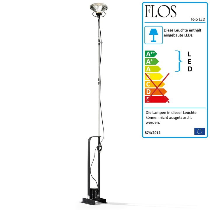 Toio LED-Deckenstrahler, matt schwarz (Limited Edition) von Flos