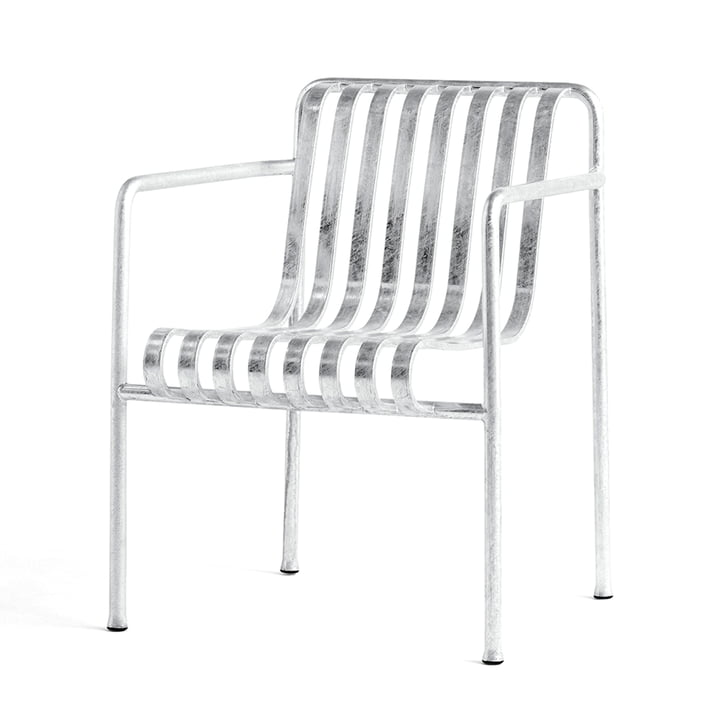 Palissade Dining Armchair von Hay in hot galvanised