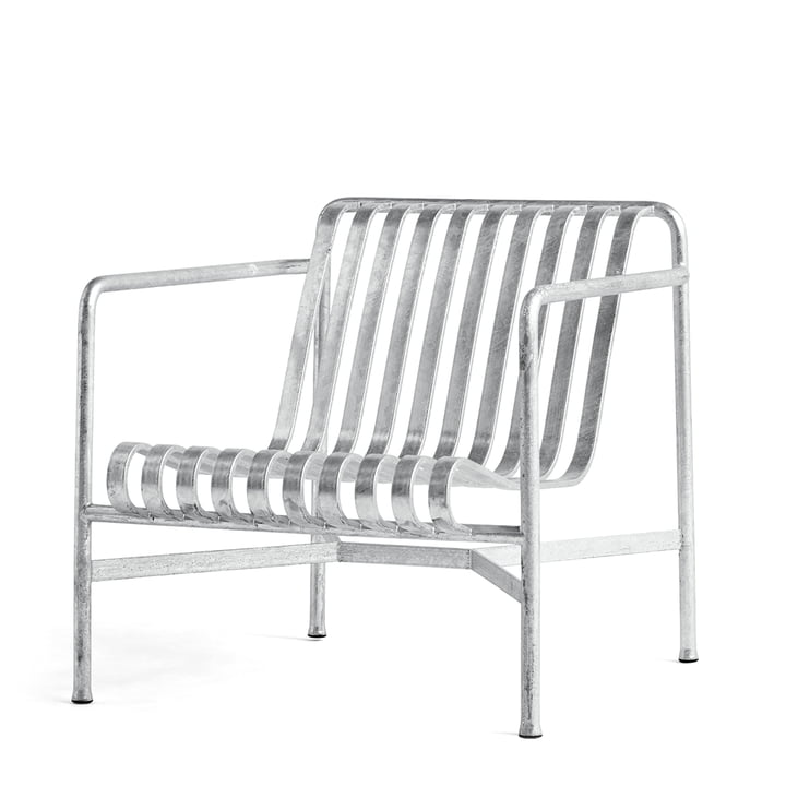 Palissade Lounge Chair low von Hay in hot galvanised