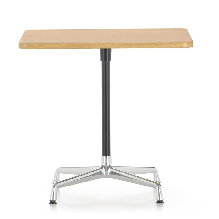 Contract Table 75 x 75 cm von Vitra in Aluminium poliert / basic dark / Eiche hell