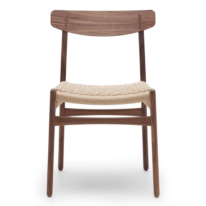 CH23 Chair von Carl Hansen in Walnuss geölt / Naturgeflecht
