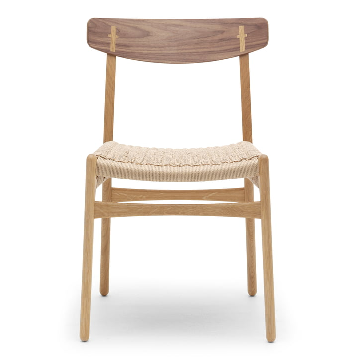CH23 Chair von Carl Hansen in Eiche geölt / Walnuss geölt / Naturgeflecht