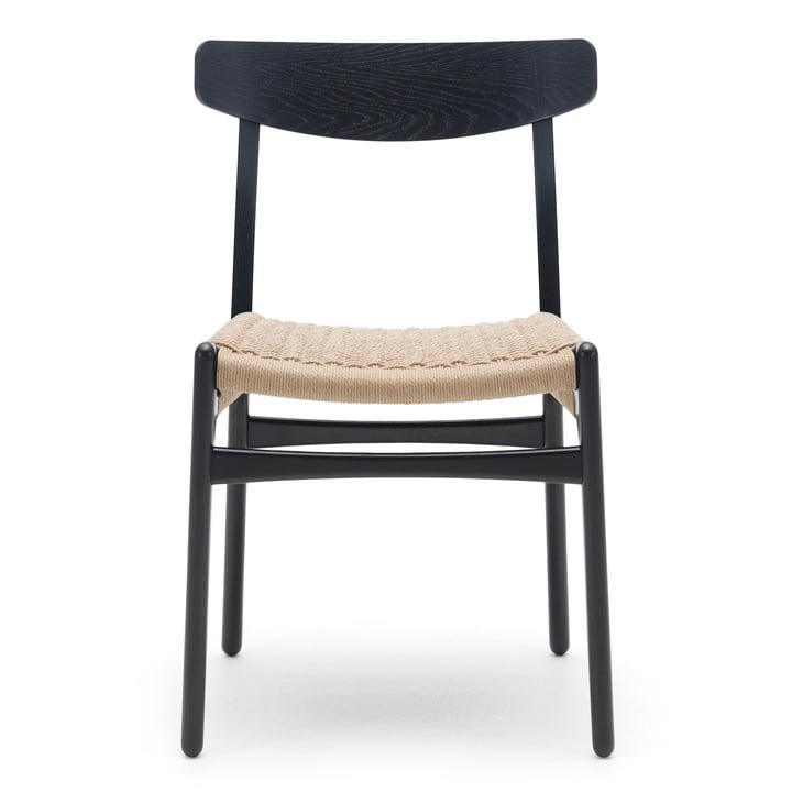 CH23 Chair von Carl Hansen in Eiche schwarz gebeizt / Naturgeflecht