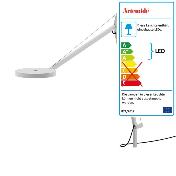 Demetra Tavolo LED Body von Artemide in weiß