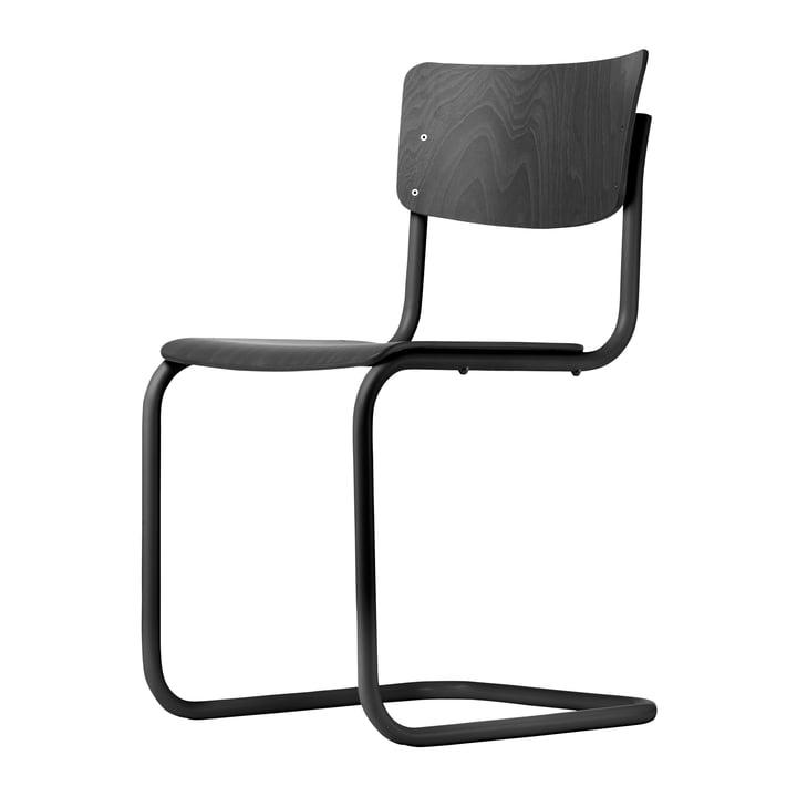 S 43 ST Stuhl von Thonet in schwarz / Buche schwarz gebeizt (TP 29)