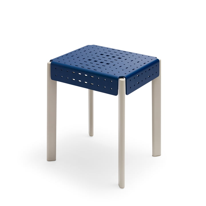 Nótt Hocker H 45 cm von Skagerak in royal blue / pebble grey