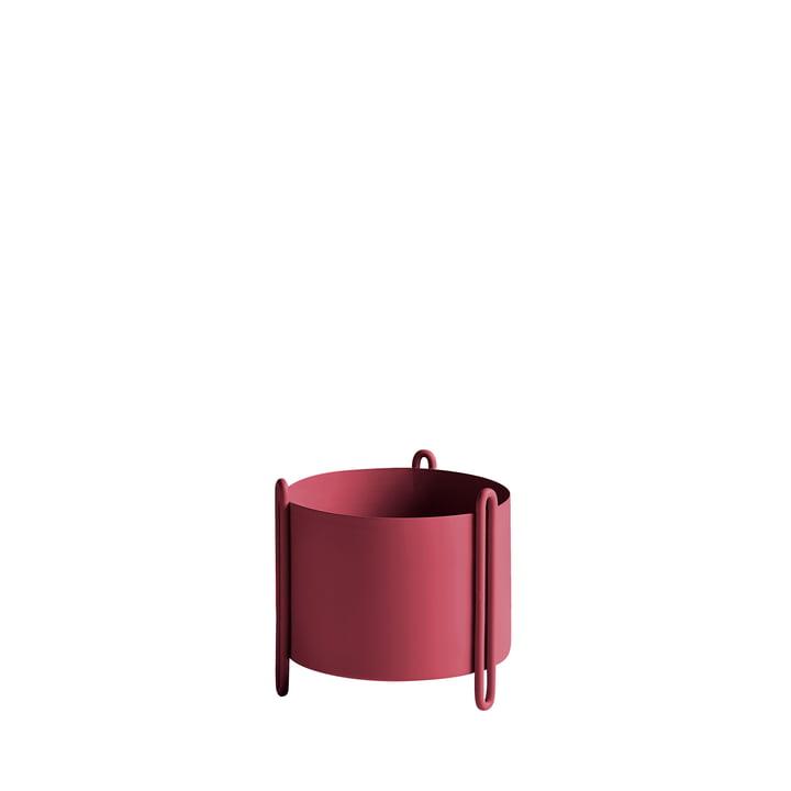Pidestall Pflanzenbehälter S von Woud in rot