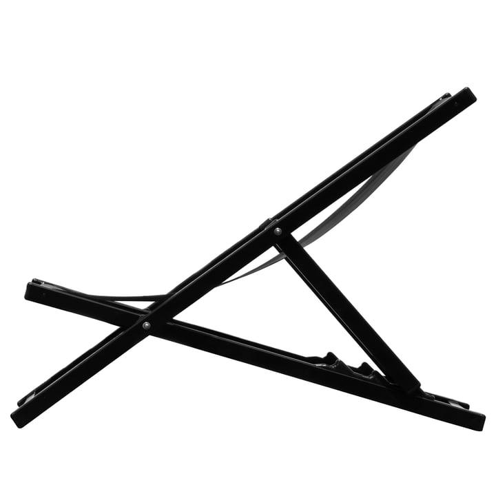 Rimini Deckchair von Jan Kurtz in schwarz