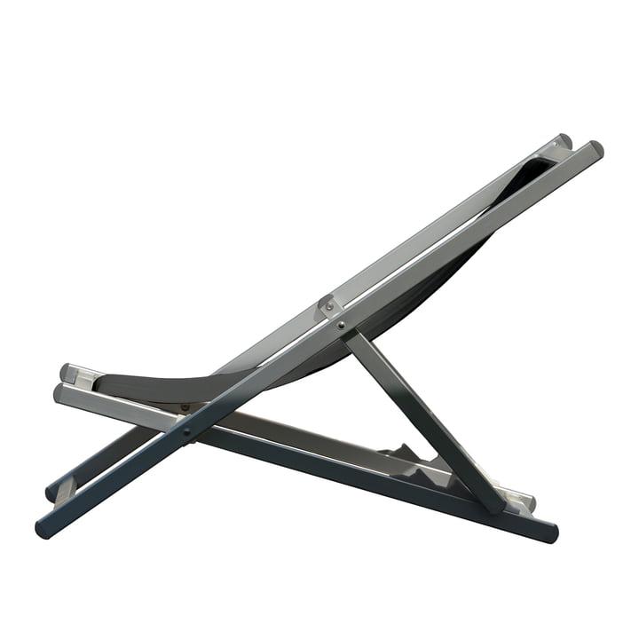 Rimini Deckchair von Jan Kurtz in Aluminium / schwarz
