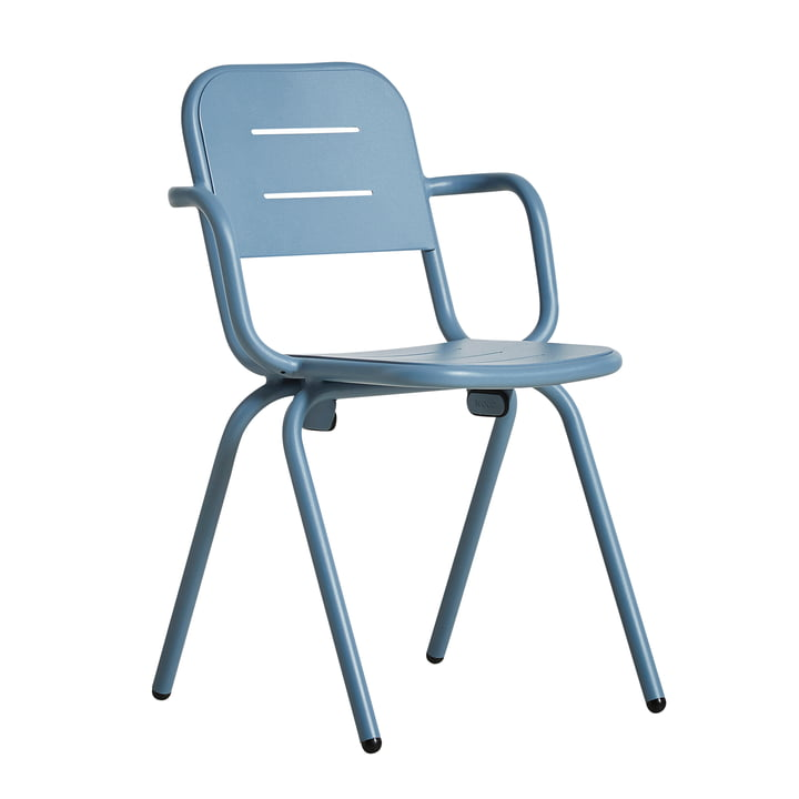 Ray Café Armchair von Woud in blau
