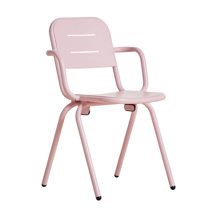 Ray Café Armchair von Woud in rose pink