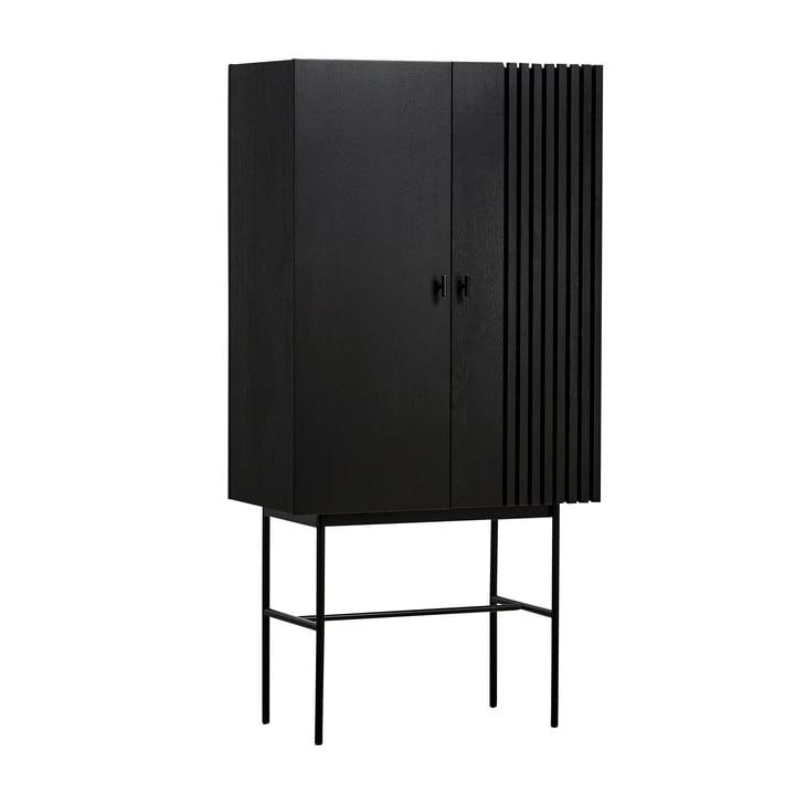 Array Highboard 80 cm in schwarz von Woud