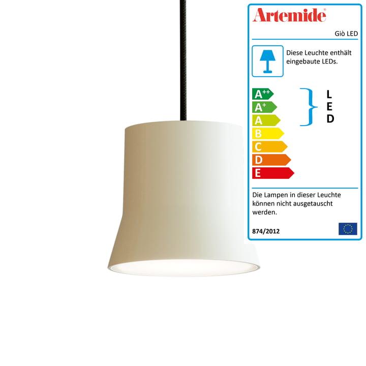 Giò LED-Pendelleuchte von Artemide in weiß