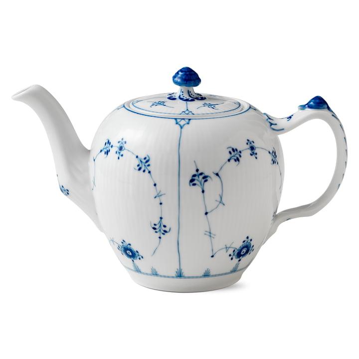 Musselmalet Gerippt Teekanne 1 l von Royal Copenhagen