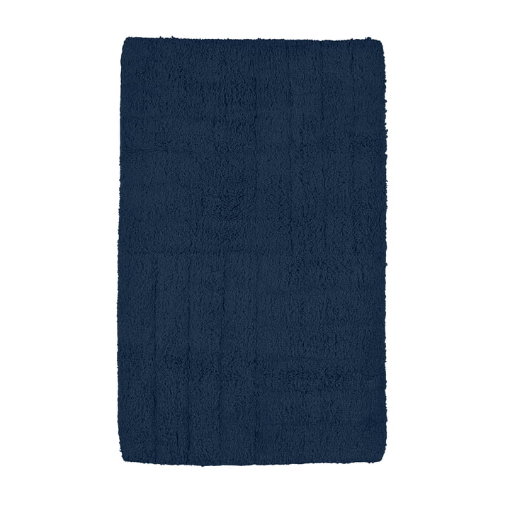 Classic Badezimmermatte 80 x 50 cm in dunkelblau von Zone Denmark
