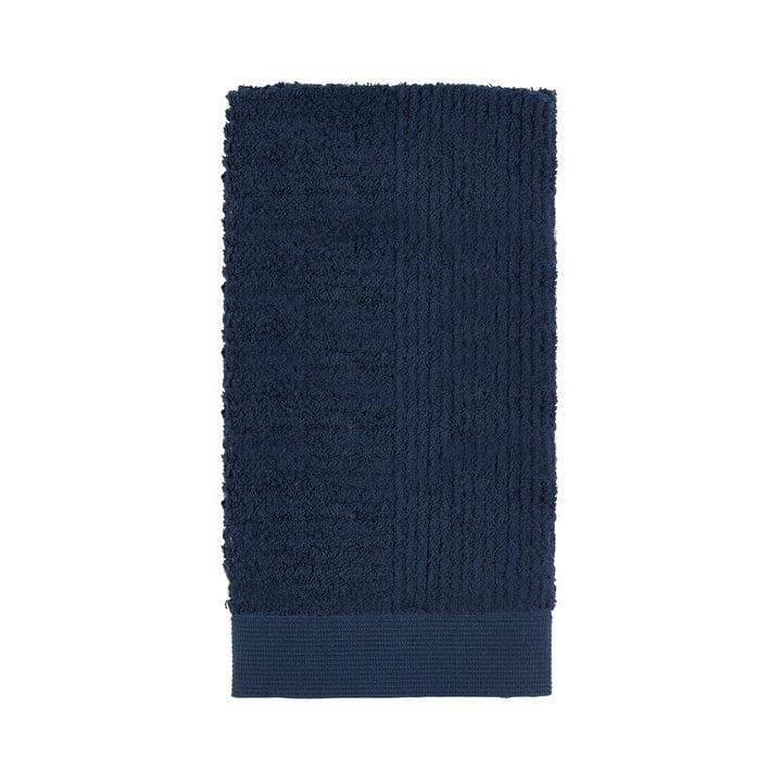 Classic Handtuch, 100 x 50 cm in dunkelblau von Zone Denmark