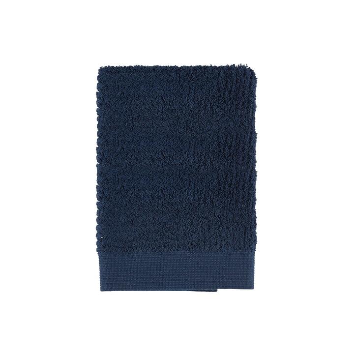 Classic Gästehandtuch, 50 x 70 cm in dunkelblau von Zone Denmark