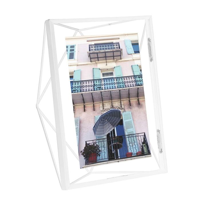 Prisma Bilderrahmen 10 x 15 cm in weiß von Umbra