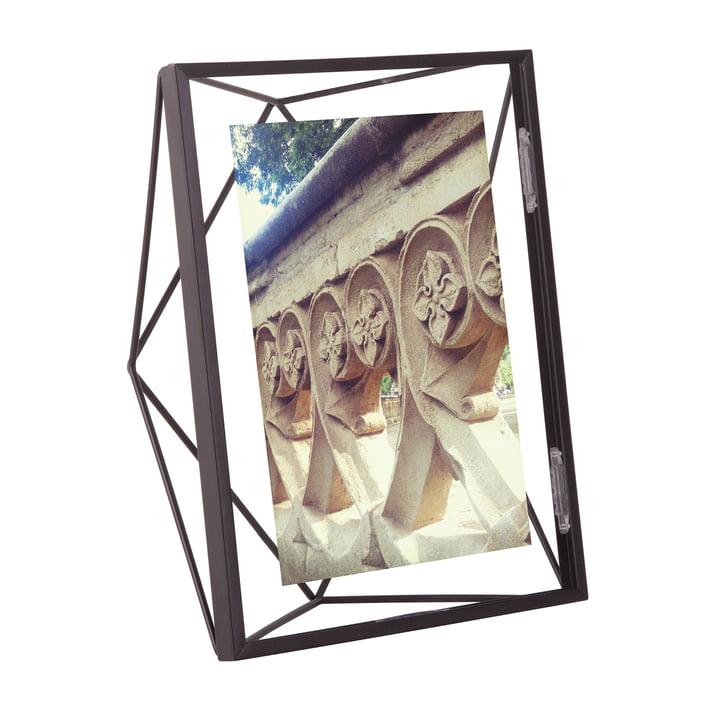Prisma Bilderrahmen 10 x 15 cm in schwarz von Umbra