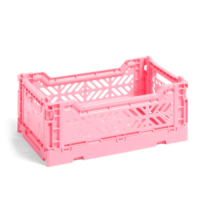 Colour Crate Korb S, 26,5 x 17 cm von Hay in light pink