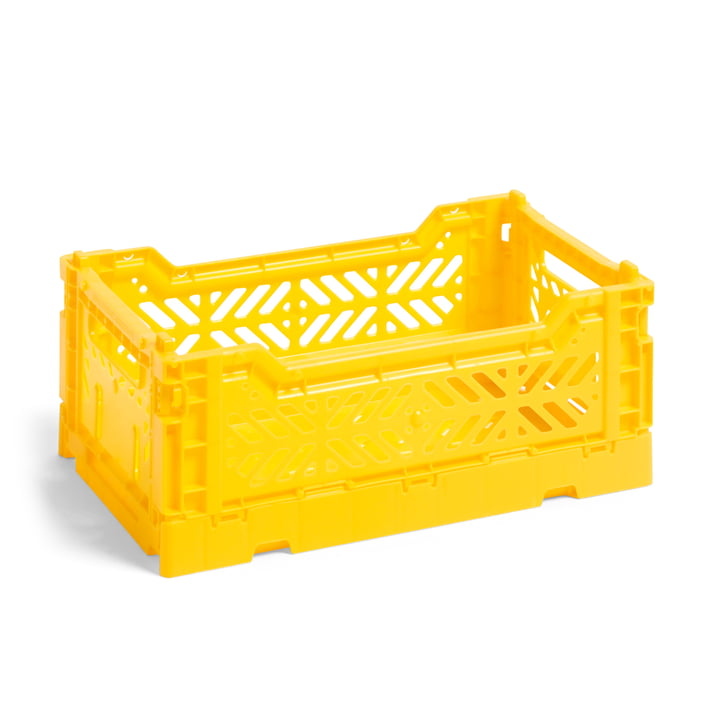 Colour Crate Korb S, 26,5 x 17 cm von Hay in gelb