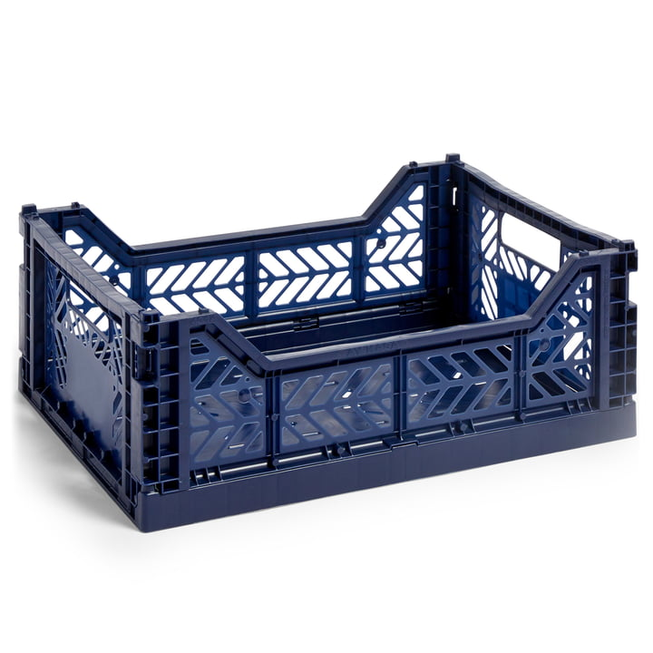 Colour Crate Korb M, 40 x 30 cm von Hay in navy