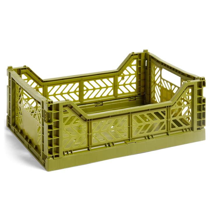 Colour Crate Korb M, 40 x 30 cm von Hay in oliv