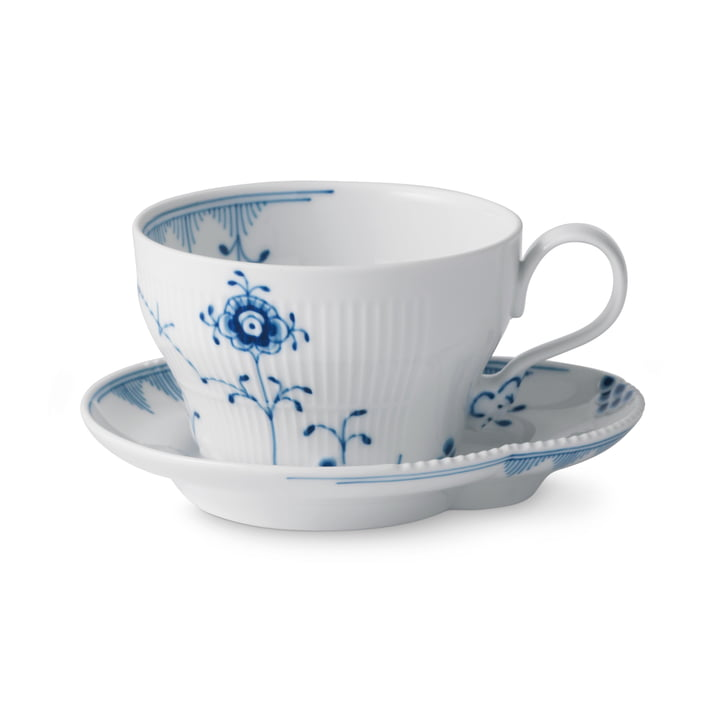 Elements Blau Tasse mit Untertasse 26 cl von Royal Copenhagen