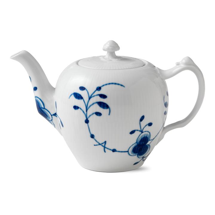Mega Blau Gerippt Teekanne 1 l von Royal Copenhagen