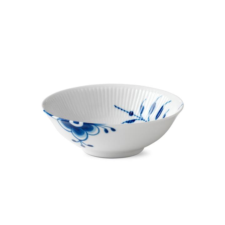 Mega Blau Gerippt Kompottschale Ø 16 cm von Royal Copenhagen