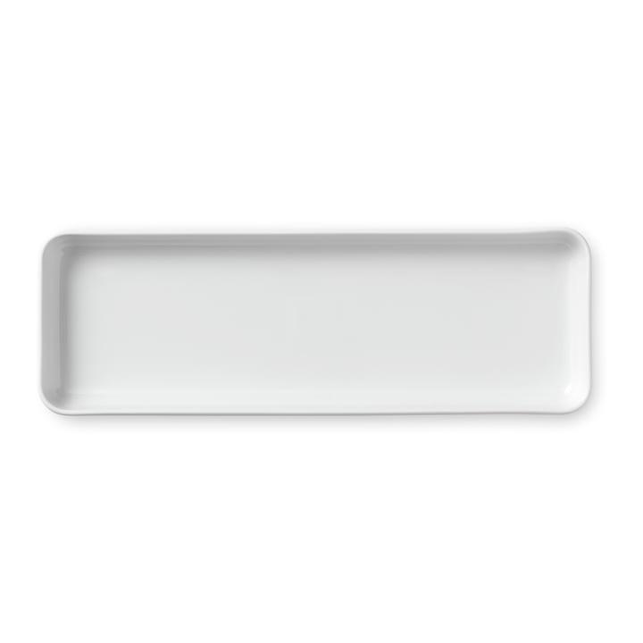 Weiß Gerippt Servierplatte rechteckig 36 cm von Royal Copenhagen