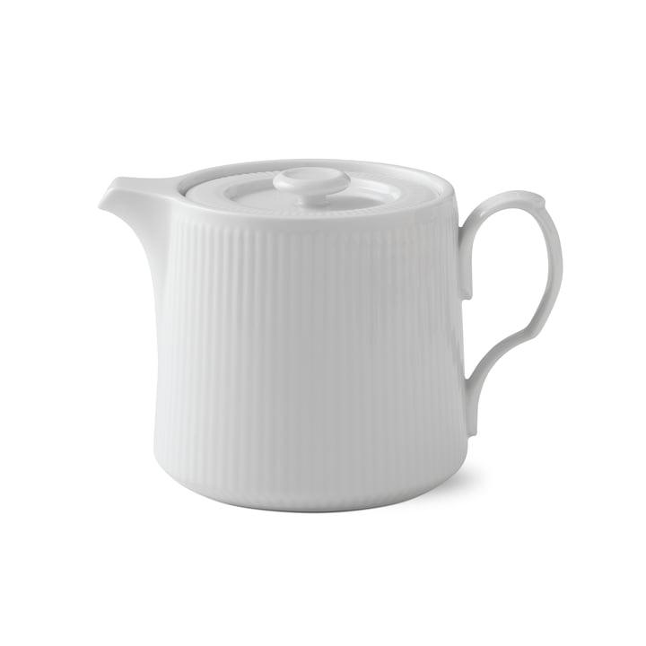 Weiß Gerippt Teekanne 75 cl von Royal Copenhagen