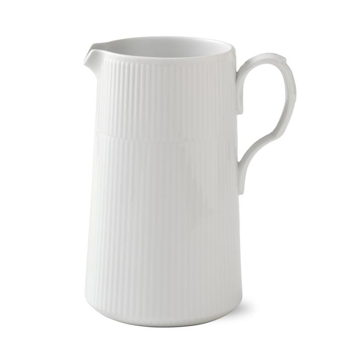 Weiß Gerippt Kanne 1,6 l von Royal Copenhagen