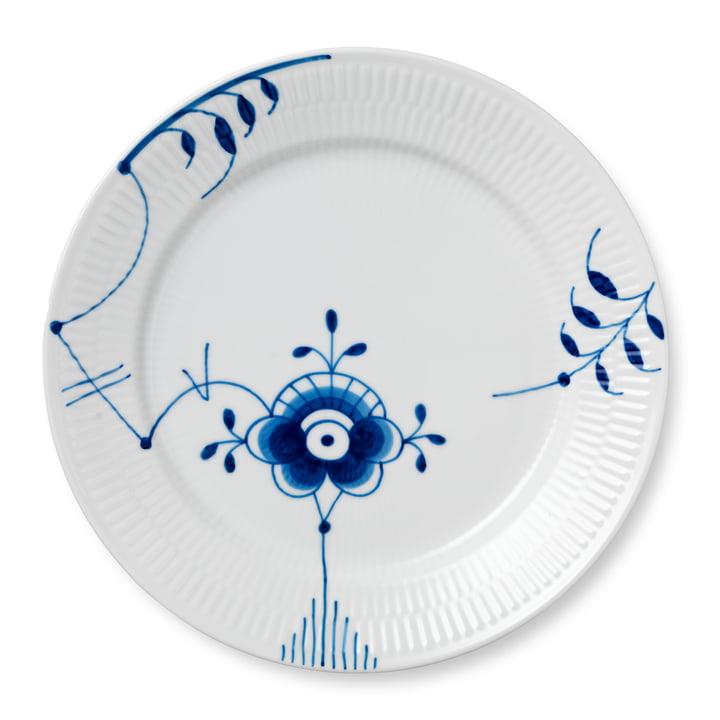 Mega Blau Gerippt Teller flach Ø 27 cm von Royal Copenhagen in Dekor Nr. 6